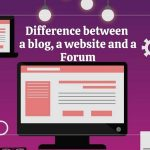 difference between a blog, website and forum