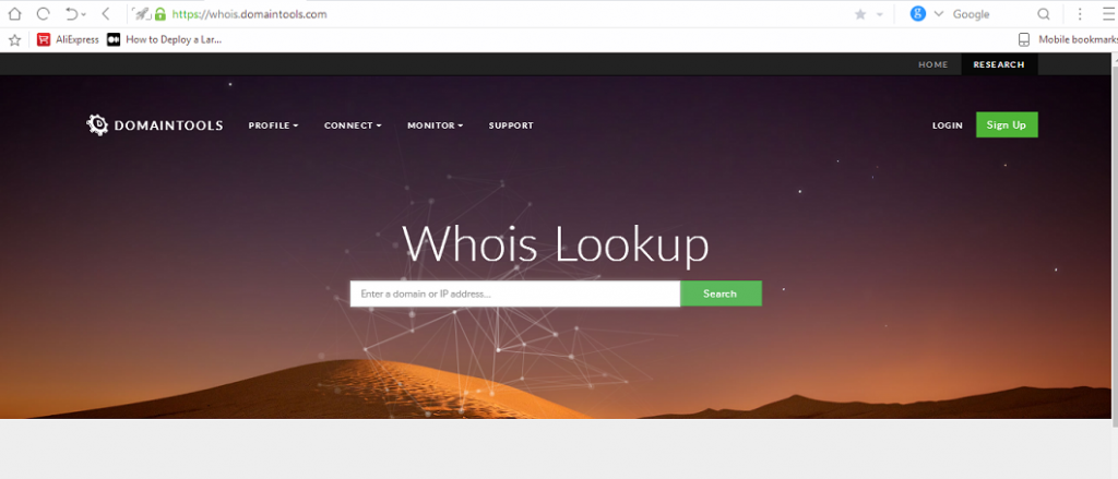 fake website--whois domain lookup image