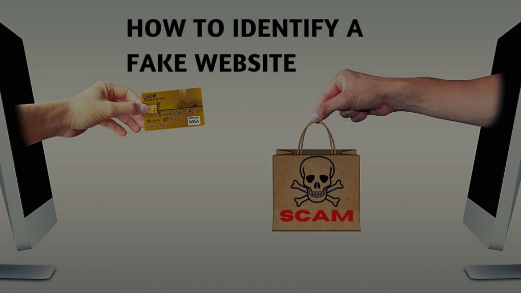 how to identify a fake website