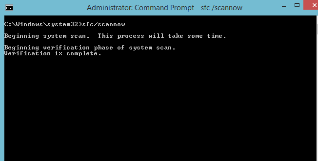 sfc/scannow- command prompt code